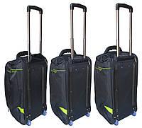 Комплект сумок на колесах (65+60+55 см) 3 в 1 CATESIGO черно-салатовый