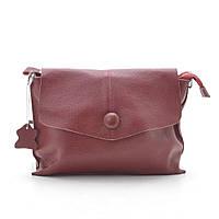 Женская сумка клатч натуральная кожа красная