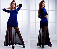 Платье вечернее Ткань Бархатистый королевский велюр,низ французская сетка  Цвет  черный,бордо 3021ea284cb