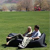 Надувное кресло Лежак Черный top-0129