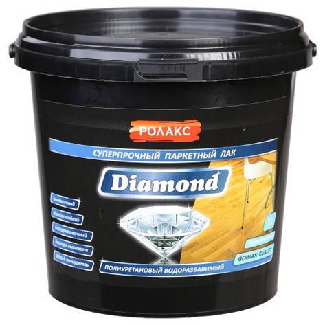 """Лак паркетний """"Diamond"""" 3 л. на пів матовий акриловий Ролакс, фото 2"""