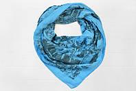 Платок в сине-голубых тонах