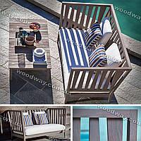 Уличная скамейка и столик для дачи, комплект мебели для террасы