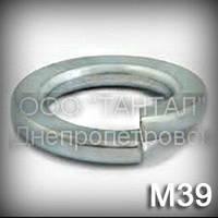 Шайба 39 DIN 127 (ГОСТ 6402-70) оцинкованная пружинная (гровера) прямоугольного сечения