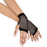 Перчатки в сетку без пальцев черные, фото 2
