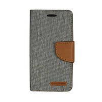 Чехол книжка Goospery Canvas Diary для Xiaomi Redmi 4A серый