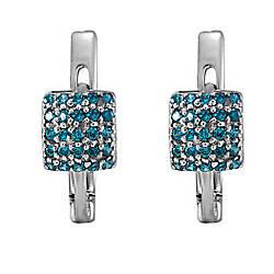 Сережки зі срібла з куб. цирконіями 1772331