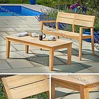 """Деревянная лавочка для дачи с уличным столиком, комплект дачной мебели, новая коллекция """"Stylish OUTDOOR"""""""