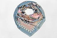 Легкий воздушный принтовый органичный женский платок