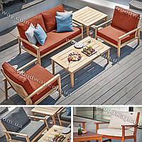 """Садовая мебель из дерева, уличные кресла и диван для террасы со столом, коллекция """"Stylish OUTDOOR"""""""