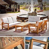 """Мебель для террасы из дерева, уличные диваны и кресла со столиком, коллекция """"Stylish OUTDOOR"""""""