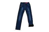 Утепленные джинсы для девочки цвет синий
