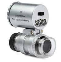 MG9882 LED микроскоп 60х, лупа с подсветкой + батарейки