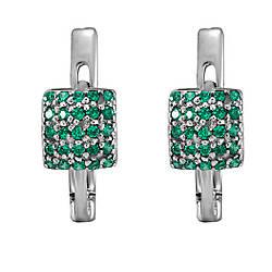 Сережки зі срібла з куб. цирконіями 1772401