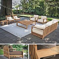 """Уличный стол, стулья и диван, набор садовой мебели из дерева, новая коллекция """"Stylish OUTDOOR"""""""