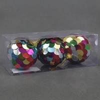 """Ёлочная игрушка С 22756 (96) """"Шарики"""" 3шт в упаковке, d=8см"""