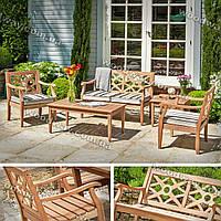 """Деревянный стол и стулья для дачи, мебель для террас и веранд, новая коллекция """"Stylish OUTDOOR"""""""