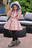 Детская стильная зимняя куртка с мехом, фото 1