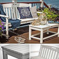 """Садовая скамейка из дерева и кофейный столик, уличная мебель для дачи, коллекция """"Stylish OUTDOOR"""""""