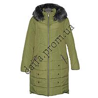 Женская зимняя куртка БАТАЛ (р-р 54-60) на синтепоне 7520-1 оптом в Одессе.