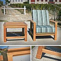 """Кресло для террасы из дерева с уличным кофейным столиком для дачи, коллекция """"Stylish OUTDOOR"""""""