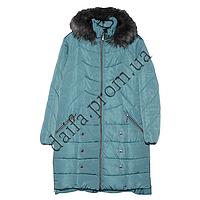 Женская зимняя куртка БАТАЛ (р-р 54-60) на синтепоне 7520-3 оптом в Одессе.