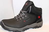 Мужские зимние ботинки Columbia на шнуровке, со вставками