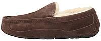 Зимние мужские мокасины на меху UGG Ascot коричневые