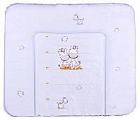 Пеленатор мягкий большой «Зебры» 621241 Ceba Baby, голубой
