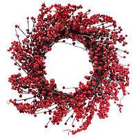 """Новогодний венок """"Калина"""" размер 55 см, рождественский венок"""