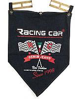 Джинсовый флаг с логотипом Rasing Car