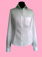 Женская блузка на длинный рукав белого цвета