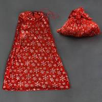 Новогодний мешок для подарков С 22430 (480) цвет красный