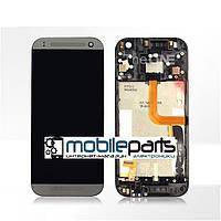 Оригинальный  Дисплей (Модуль) + Сенсор (Тачскрин) для HTC One Mini 2 | M8 Mini (С рамкой) (Серый)