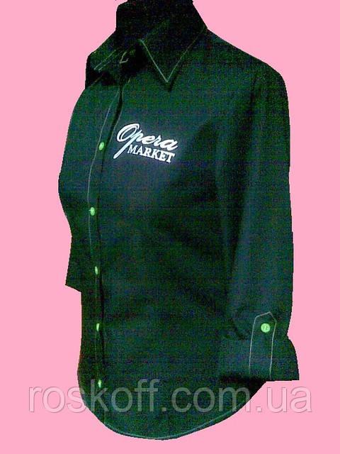 Женская блузка на длинный рукав черного цвета