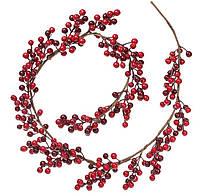 """Новогодняя ветка """"Ягода"""" размер 120 см, рождественский венок"""