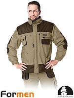 Куртка зимняя  мужская рабочая коричневая FORMEN Lebber&Hollman Польша (спецодежда утепленная) LH-FMNW-J BE3