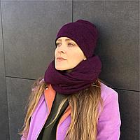 Шерстяная шапка цвета марсал, фото 1