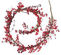 """Новогодняя ветка """"Ягода"""" размер 120 см, натуральные материалы, рождественский венок"""