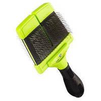 Furminator Large Soft Slicker Brush мягкая двухсторонняя щетка для крупных и гиганских пород 691033/140566