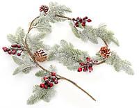 """Новогодняя ветка """"Хвоя"""" размер 120 см, натуральные материалы, рождественский венок"""