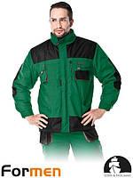 Куртка зимняя рабочая мужская зеленая FORMEN Lebber&Hollman Польша (утепленная рабочая одежда) LH-FMNW-J ZBS