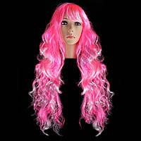 Парик Барби 80см (розовый, синий)