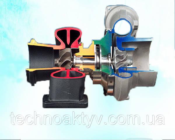 Разрез автомобильного турбокомпрессора