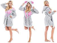 Махровый халат с капюшоном KIGU размер S