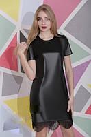 Женское платье из экокожи Адель / размер 42,44,46 / цвет черный