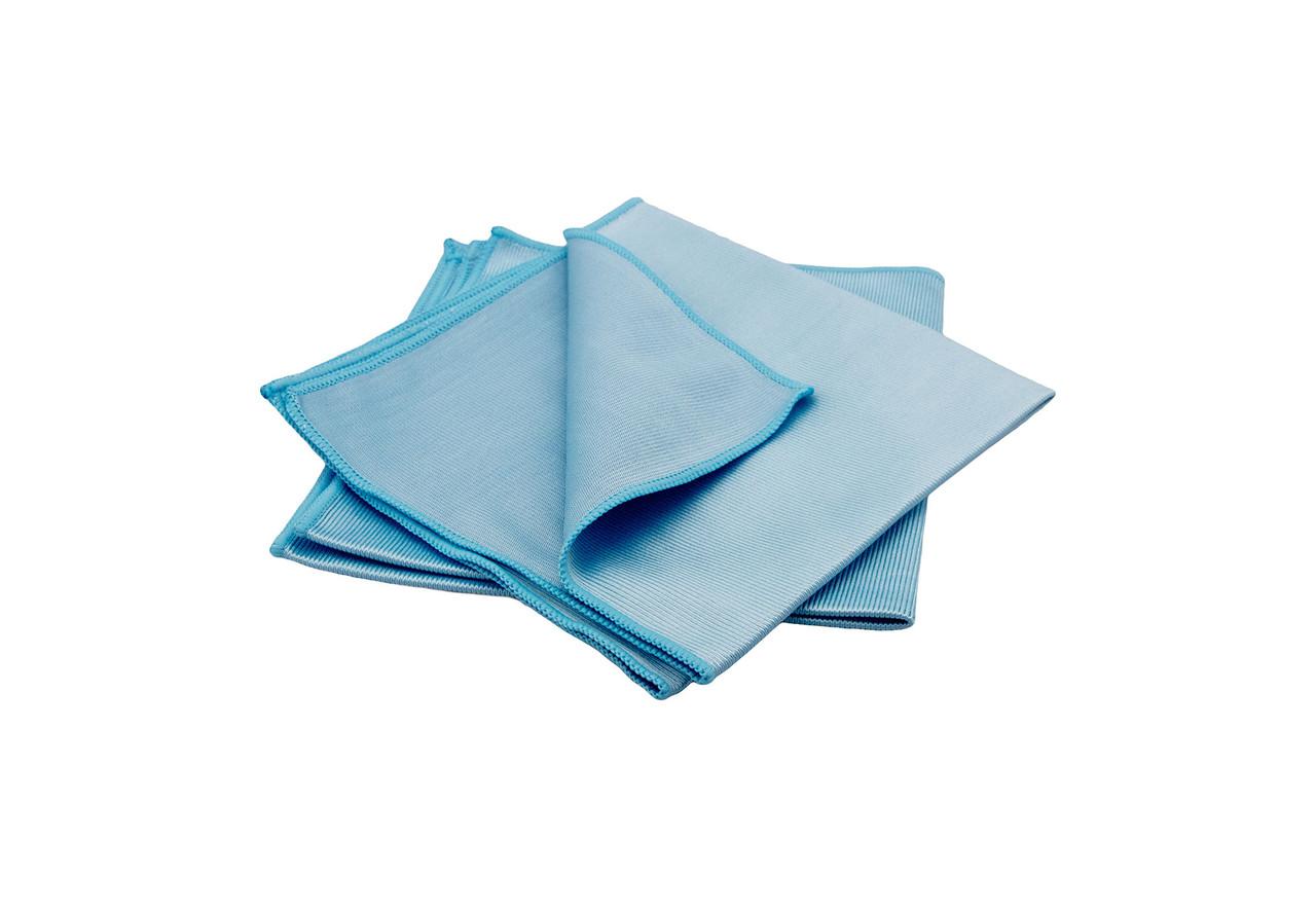 Набор полотенец микрофибровых для стекла - Flexipads Pro-Glass 40х40 см. 2 шт. синий (40529)