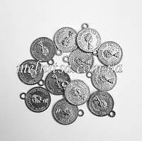 """Монетки  """"Queen"""" 1,3 см, 10 шт., никель"""