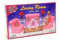 Детская игрушечная мебель Глория Gloria для кукол Барби Гостиная 9704. Обустройте кукольный домик
