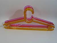 Прозрачные пластмассовые вешалки плечики Пузыри 43см польские цветные